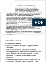 Presentacion Del Gerundio Correcto e Incorrecto