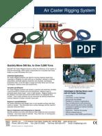 Air Caster Rigging System Spec Sheet ACRS2012