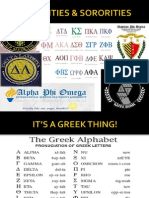 fraternities and sororities
