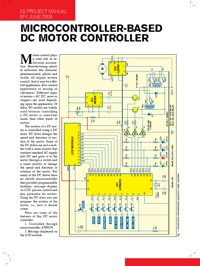 Microcontroller Based Dc Motor Controller Power Inverter Circuit Using 741 Op Amp Schematic Diagram Electric