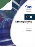 Framework for Incident and Problem Management