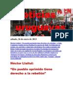 Noticias Uruguayas sábado 26 de enero del 2013