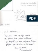 LIBRO de FIRMAS CLUB de MONTAÑA PEÑA TORQUILLA