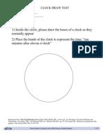 Clock Drawing Test