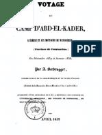 Voyage au camp d'Abd-el-Kader - Derbrugger