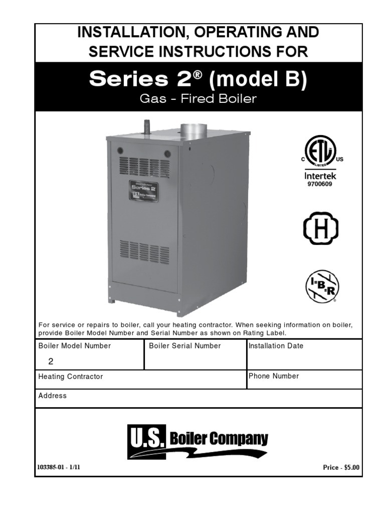 Installation, Operating and Service Instructions for Burnham Series ...