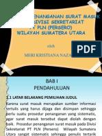 Prosedur Penanganan Surat Masuk Pada Divisi Sekretariat Pt