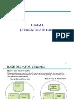 Unidad I - Diseño de Datos