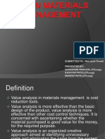 Valuation in materials management