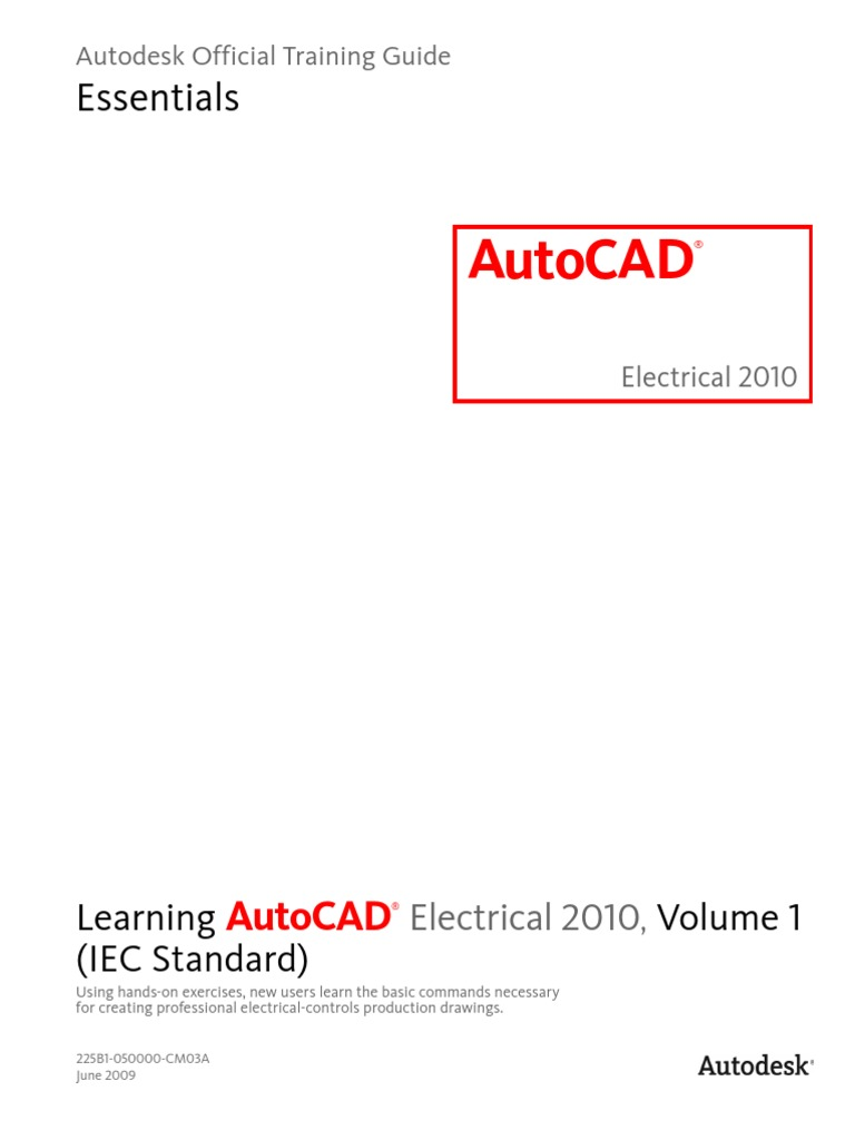 Learning Autocad Electrical 2010 Iec Volume 1 Slipstream Schematic Autodesk Prototype