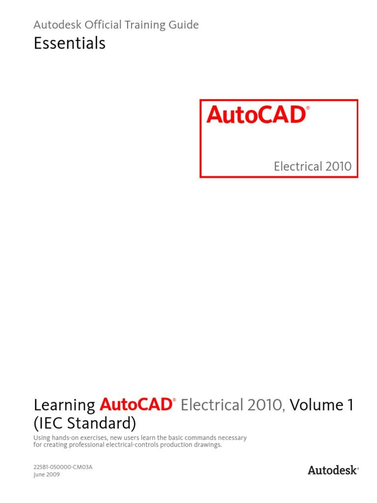 Learning Autocad Electrical 2010 Iec Volume 1 Slipstream Wiring Symbols Autodesk Prototype