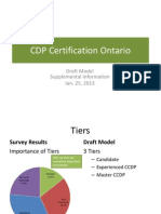 Supplemental Information for Draft Certification Model for Ontario Career Development Practitioners