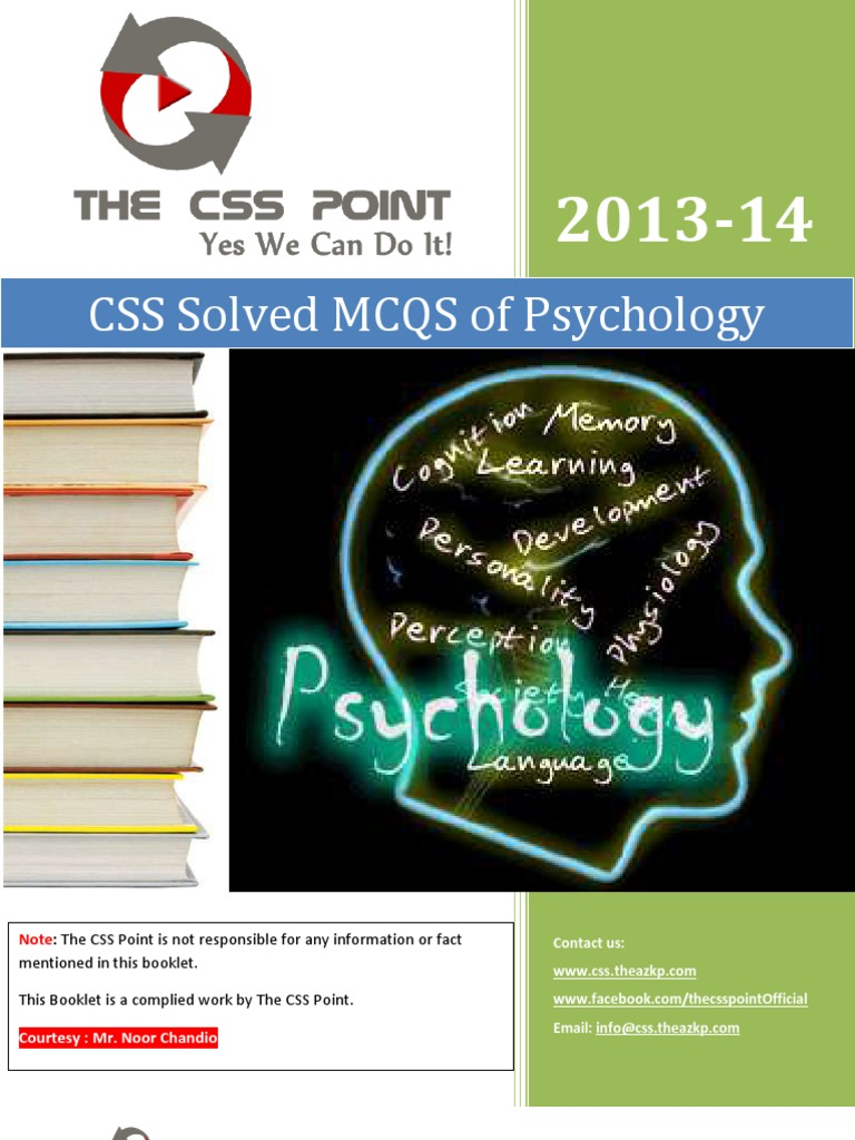 CSS Solved MCQS of Psychology | Psychotherapy | Id