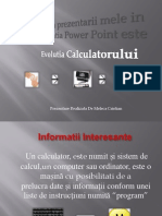 Evolutia Calculatorului Prezentare Power Point de Meleca Cristian