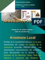 Seminario Anestésicos Locales