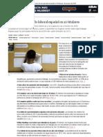 10 titulares sobre Crisis del mercado laboral español, 24-1-13