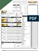 Star wars d20 fillable Character sheet