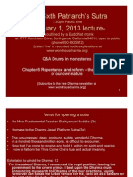 Sixth Patriarch's Sutra February 1, 2013 lecture