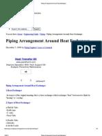 Piping Arrangement Around Heat Exchanger