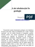 Aplicatii ale teledetectiei in geologie