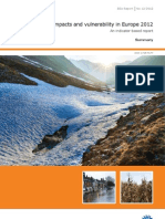 Climate Change- Impacts and Vulnerability in Europe 2012 - Summary