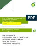 2/3 rule overpressure protection of tube heat exchanger