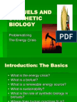 BIOFUELS and SYNTHETIC BIOLOGY Problematizing the Energy Crisis Introduction: