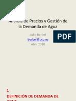 Analisis de Precios y Gestion de La Demanda de Agua