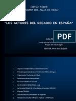 Los Actores Del Regadio en Espana