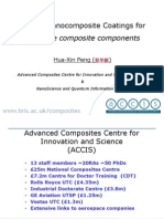 2_Polymer Nanocomposite Coatings for Aerospace Composite Components - Dr. Hua-Xin Peng, ACCIS, United Kingdom