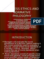 Business Ethics and Normative Philosophy