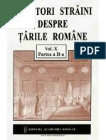Calatori Straini despre Tarile Romane Partea II vol X