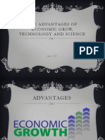 The Advantages of Economic Grow, Technology And