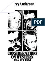 ANDERSON P, Considerations on Western Marxism