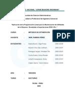 Aplicacion de Programación Lineal a la Empresa Novedades e Importaciones ELSA