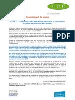 25.01.13 CP UMPA-UPE SDIS Suppression Poste Dir Cab