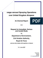 Illegal Aerosol Spraying Operations Over United Kingdom Airspace. (aka-chemtrails)