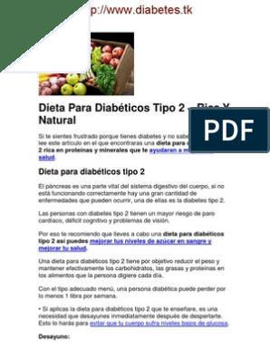 Dieta para los diabeticos tipo 1