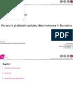 Raport de cercetare privind discriminarea