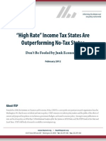 """High Rate"" Income Tax States Are Outperforming No-Tax States"