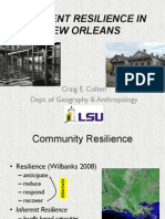 "Craig Colten - ""Inherent Resilience in New Orleans"""