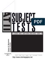 SAT 2 subject tests