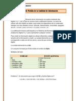 Unidades de Medida de la Cantidad de Información Raquel García