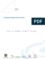 List of ADWEA Product Groups