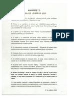 Manifiesto Paisaje Urbano