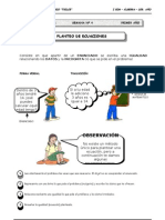 I BIM - 1er. Año - ALG - Guía 4 - Planteo de Ecuaciones