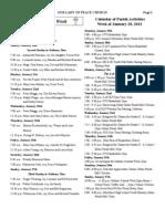 OLP Church Bulletin 1 27 2013