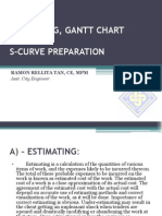04. Estimating, Gantt chart and S-Curve Preperation