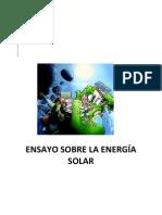 ENSAYO SOBRE LA ENERGÍA SOLAR