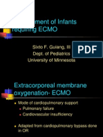 Extra corporeal membrane oxygenation